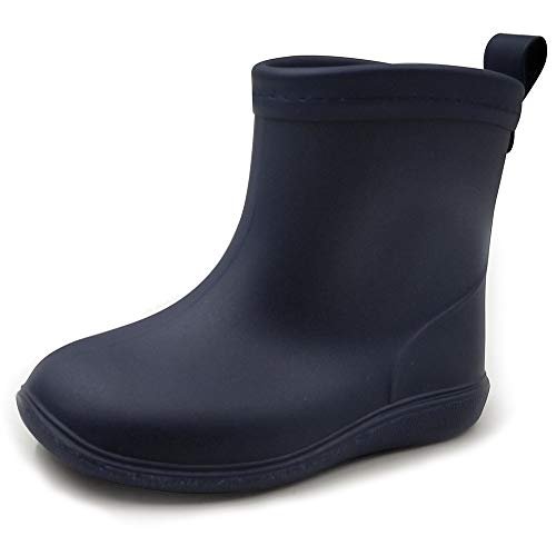 Baby Rainboots Girls Rain Boots ShoesToddlers Kids Boys Easy On Lightweight Waterproof Pastic Solid Navy Blue 6-6.5 Toddler