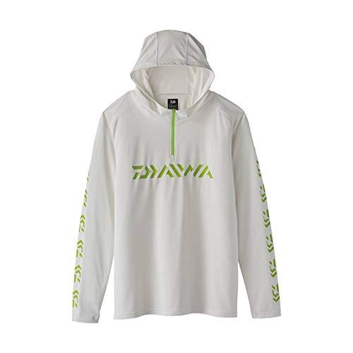 ダイワ(DAIWA) フィッシングシャツ フーディー ジップアップシャツ ホワイト XL DE-34020