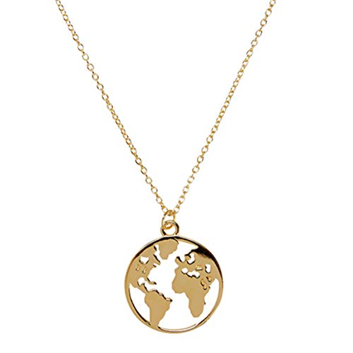 LENIRA Weltkugel Frauen Halskette (Gold)