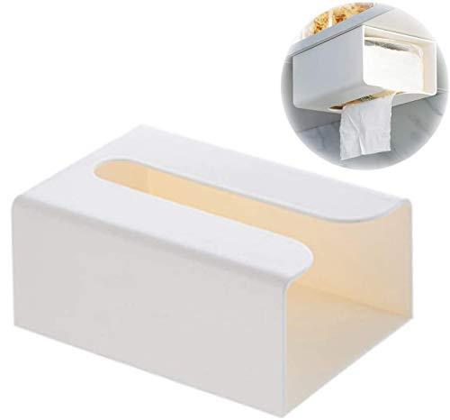 ティッシュケース 壁掛け ペーパーケース ティッシュボックスホルダー 多目的 ペーパータオル用 洗面所 ティッシュホルダー キッチン収納 壁付け 壁に付けられる 便利グッズ (壁付け用マジックテープ付き)