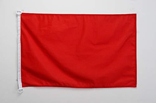 AZ FLAG BOOTFLAGGE EINFARBIG ROT 45x30cm - EINFARBIG BOOTSFAHNE 30 x 45 cm Marine flaggen Top Qualität