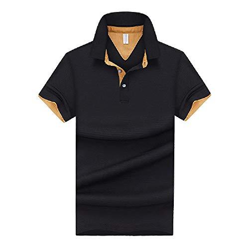 Polo da Uomo Sottile Estiva Polo Polo Polo Manica Corta T-Shirt Slim Fit Top Casual da Uomo alla Moda Coreana