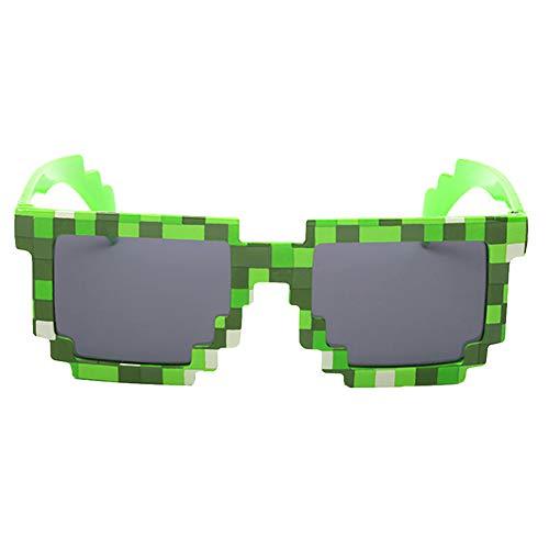 Angoter Mosaik Plaid Glas-Qualität Unisex-Platz Sonnenbrillen Kinderbecken Strand Außenkopfbedeckungen Accessorie