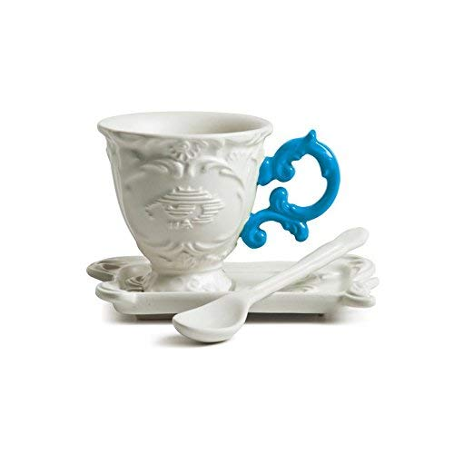 SELETTI Set da Caffe' in Porcellana I-Wares con Manico - Azzurro