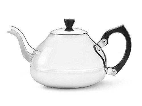einwandige Teekanne Ceylon 1,2 ltr. Mit schwarzen Beschläge