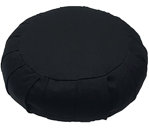 Cojin Zafu Meditación Yoga Zen Meditation Cushion Cojin Suelo Cubierta en Algodon Lavable Altura 15 Cm Relleno de Espelta Cubierta en Algodon Lavable
