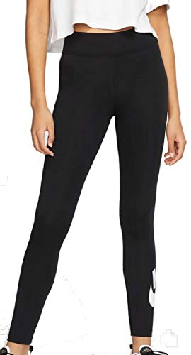 Nike Damen Sportswear Tights, Black/White, L