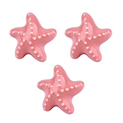 3 piezas Pomos de puerta para niños Manijas rosado Armario Tiradores de...