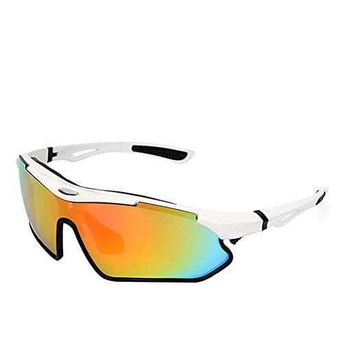 Juventud Deporte Gafas De Sol,Polarizado Gafas Ciclismo Para Hombres Mujeres Ligero Elegante Gafas De Seguridad Para Béisbol Pesca Ciclismo Corriendo Golf Motocicleta-Blanco y negro 14.1x3.7cm(6x1inch