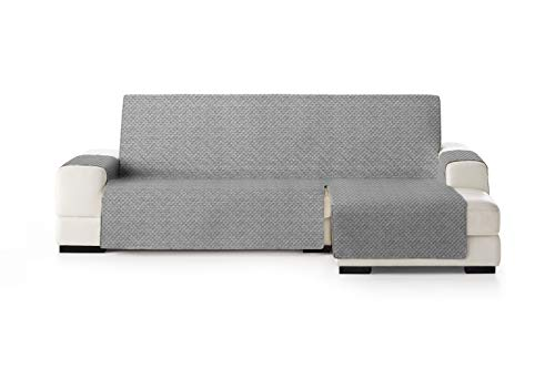 Eysa Mist Funda, Poliéster, Gris/Beige, Chaise Longue 240cm. Válido para sofá Desde 250 a 300cm