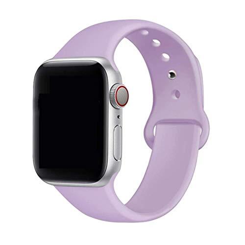 MAPPE Cinturino in Silicone per Cinturino Apple Watch 38Mm 42Mm per Cinturino Iwatch 44Mm 40Mm Cinturino Sportivo con Cinturino Correa per Apple Watch 5 4 3 2 1 Accessori, Lavanda, 38Mm 40Mm SM