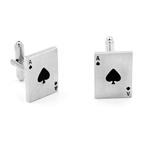 Vcufflinks Manschettenknöpfe Ace of Spades Kartenspiel Manschettenknöpfe