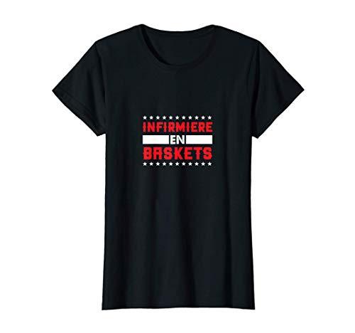 Femme idee cadeau femme humour pour une infirmiere en baskets T-Shirt