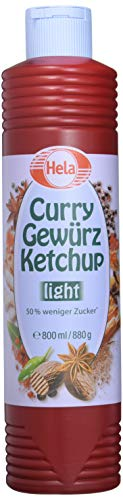 Hela Curry Gewürz- Ketchup light (1 x 800 ml Tube)