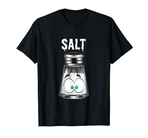 Divertido disfraz de pimienta de sal y Halloween Camiseta