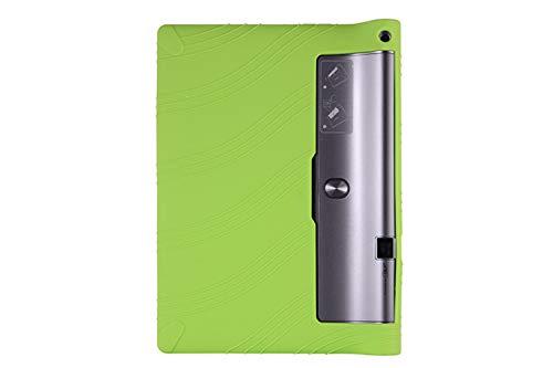 Oneyijun Verde Suave Silicona Piel Bolsa Proteccion Caso Protector Cubrir Funda para Lenovo Yoga Tab 3 Pro YT3-X90F/M/L 10.1 Pulgadas Tableta