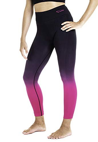 XAED - Pantalón corto de fitness para mujer (negro/fucsia, pequeño)