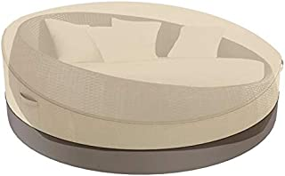 Outdoor Daybed Cover 90 Inch Patio Round Daybed Cover 420D Waterproof Heavy Duty Oxford Fabric Garden Furniture Cover