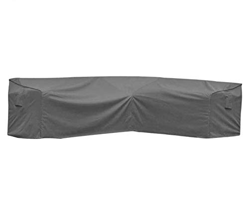 """Covolo Waterproof Patio V Shaped Sectional Furniture Cover,L Shaped Premium Outdoor Lounge Porch Sofa Covers,Garden Couch Protector 100"""" Lx33.5Wx31H(Grey)"""