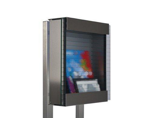Keilbach Designprodukte 79202 Keilbach, Briefkastenstativ glasnost.stativ.screw, Rechteckrohre aus Edelstahl zum Aufschrauben für alle glasnost-Briefkästen, Mehrfarbig, One Size