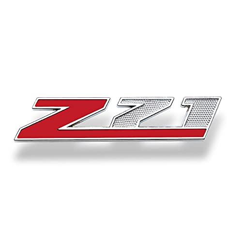 Emblema del capó Delantero del Coche 1 unids 9.5x2cm Z71 Off Road Metal Pegatina Coche Rejilla...