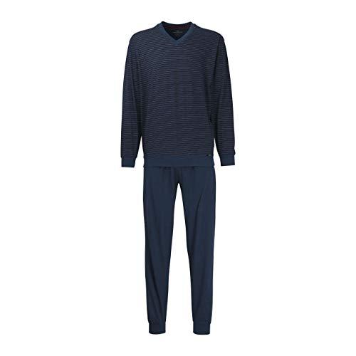 Götzburg Herren Nachtwäsche Zweiteiliger Schlafanzug, Pyjama lang, aus Baumwolle 50