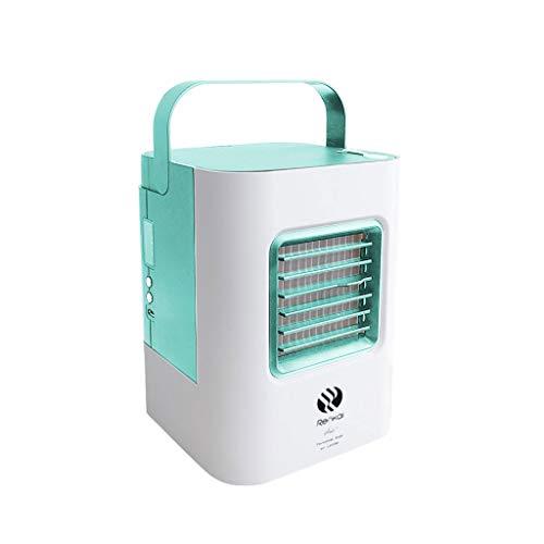 Mobile Ventilator Klimaanlage Persönlicher Mini Klimageräte USB Tragbar Luftkühler Ventilator Luftbefeuchter und Luftreiniger LED Beleuchtung Luftkühler 3 Arten Windgeschwindigkeit Modus (Grün)