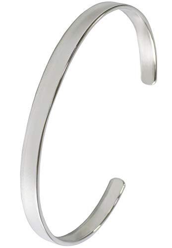新宿銀の蔵 プレーン シルバー 925 バングル 幅5mm メンズ シンプル ブレスレット アクセサリー