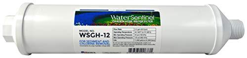 WaterSentinel WSGH-12 3-Stage Garden Inline Water Filter with Garden Hose Connection, Reduce Sediment, Hard Water, Dirt, Rust, Chlorine Taste, Odor, Drinking Water, Organic Gardening Plant Health