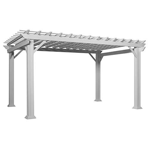 Hawthorne 14' x 10' White Steel Traditional Pergola