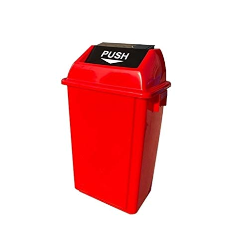 AINIYF Trash kann mit Deckel, Hotel-Küche Multifunktions-Trash Can Rectangle Classified Trash Can Außen Trash Can (Color : Red, Size : 60L)
