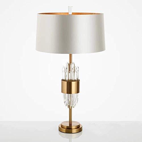 Lámpara de escritorio Lámpara de mesa de metal LED de cristal de lujo de estilo posmoderno, sala de estar en casa creativa, dormitorio, junto a la cama, aprendizaje, hotel, club, decoración, lámpara d