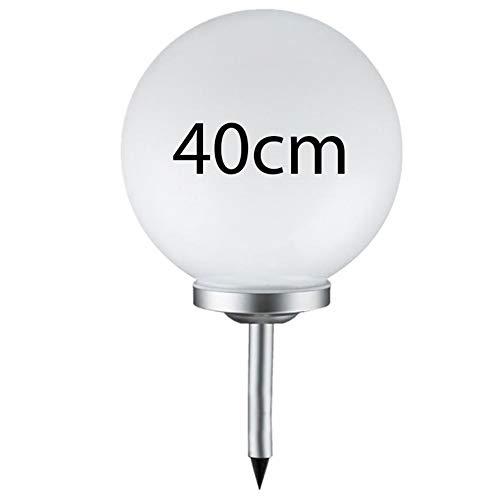 Grafner® Solarkugel Ø40 cm | LED | mit Erdspieß | Wegleuchte Gartenlampe Kugelleuchte LED-Leuchte Gartenleuchte Solar Kugel