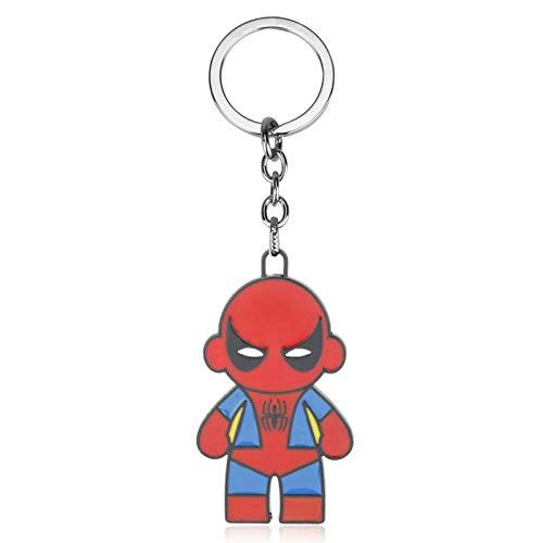 YCEOT Super Hero Spider-Man Sleutelhanger Superheld Spiderman Rood Masker Metalen Sleutelhanger Voor Mannen Auto Sleutelhanger