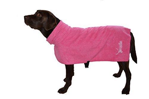 Arcadian Mikrofaser Hunde Bademantel. Leicht, schnell trocknend und super saugfähig.