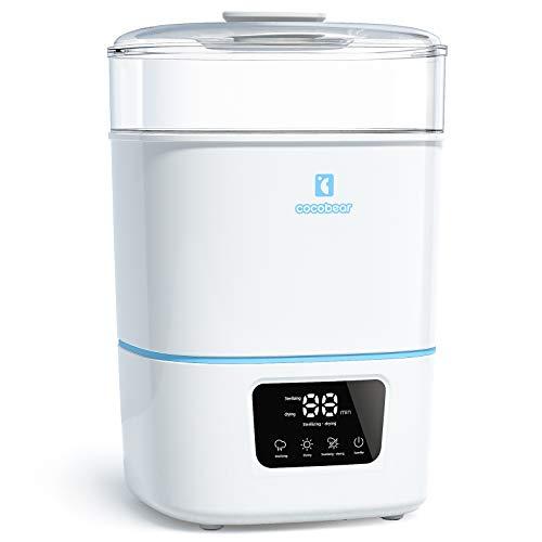 CocoBear 3-in-1 Electric Steam Sterilisator und Trockner Premium für bis zu 6 Baby Bottles, Pacifiers, Pumpen und Zubehör
