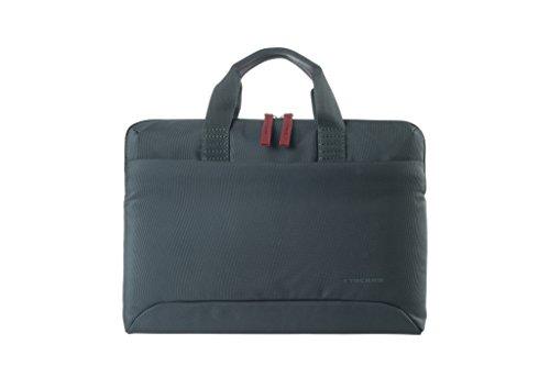 Tucano Smilza Laptoptasche aus Nylon für 13/14 Zoll Notebooks, mit schockabsorbierender Innenpolsterung & Abnehmbarer Schultergurt - Grau