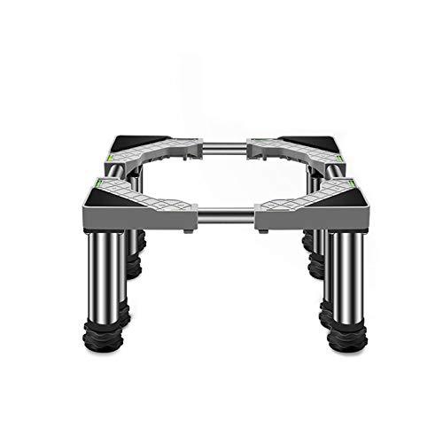 Base de Machine à Laver Réglable Roller Support pour Sèche-Linge Socle Congélateur avec 4/8/12 Pieds en acier inoxydable Universel Machine à Laver Stent Support Lourd Forte Stabilité