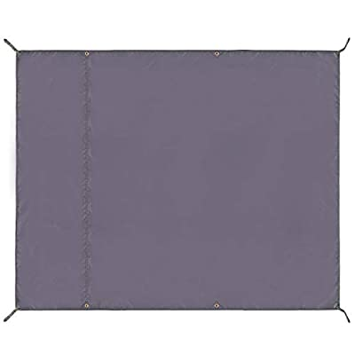 """REDCAMP Waterproof Camping Tent Tarp - 95"""" x116'', 4 in 1 Multifunctional Tent Footprint for Camping, Hiking and Survival Gear, Lightweight and Compact"""