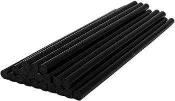 Black Hot Melt Glue Sticks,Hot Glue Gun Sticks for Handmade Craft DIY Home Office Project Craftwork Fix & Repairs,20 PCS