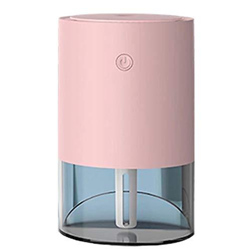 Camisin Humidificador oblicuo, humidificador de membrana atomizada de cerámica de 350 ml, humidificador de luz nocturna para el hogar (rosa)