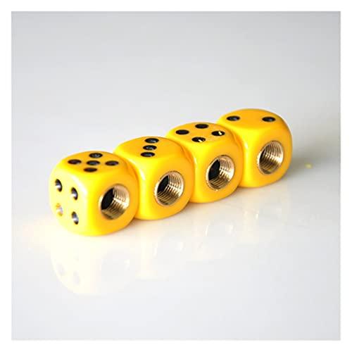 Lingling 4 unids/set neumático neumático válvula de aire tapas amarillo forma cuadrada a prueba de polvo coche motocicleta bicicleta polvo llantas tapas herramientas reparación