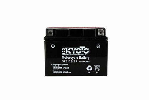 Batteria moto Kyoto GTZ12S-BS (YTZ12S) - Senza manutenzione - 12 V 11 Ah - Dimensioni: 150 x 87 x 110 mm compatibile con HONDA CBR1100 XX 1100 2001