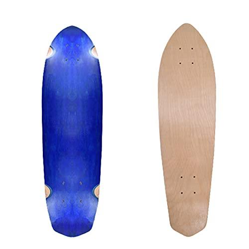 XMILL Maple Skateboard Deck, Downhill Longboard Deck, Custom Skateboard aus 8-lagigem kanadischem Ahorn, Blank Cruiser Deck, Camber Concave, Freestyle Terrain Wood Longboard für Anfänger und Profi