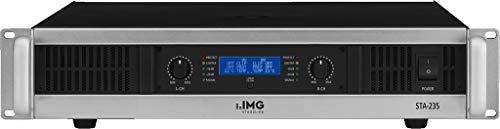 IMG STAGELINE STA-235 Stereo PA-Verstärker mit integriertem Limiter schwarz/silber