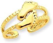 Gold Feet Toe Ring (10K)