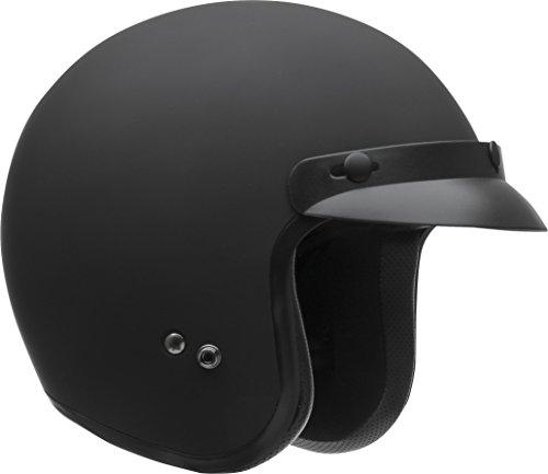 Vega Helmets - 8500-051 X380 Vintage Motorcycle Helmet for Men & Women, Classic Retro Open Face Design Lightweight DOT Certified for Motorbike Cruiser Moped Scooter ATV (Matte Black, X-Small)