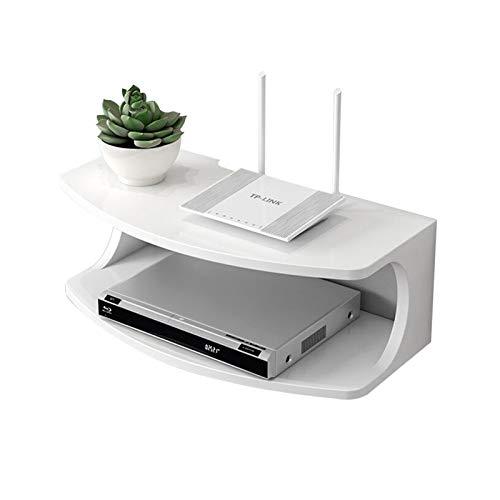 KORANGE Consola Multimedia Estante De DVD Caja De Cable con Estante Flotante Montaje En Pared Estante De Almacenamiento De DVD Estante De La Consola De Videojuegos