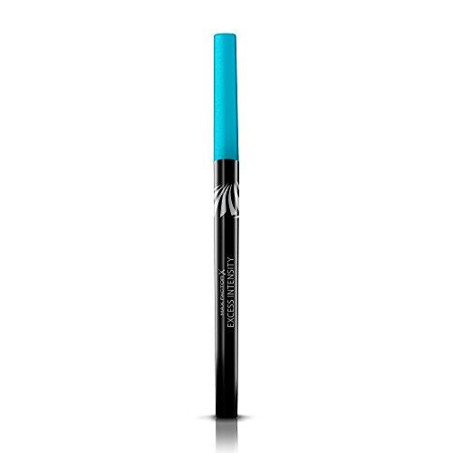 Max Factor Excess Intensity Longwear Eyeliner Aqua – Wasserfester Eyeliner zum Drehen – Für den perfekten Lidstrich – Farbe Blau – 1 x 2 g