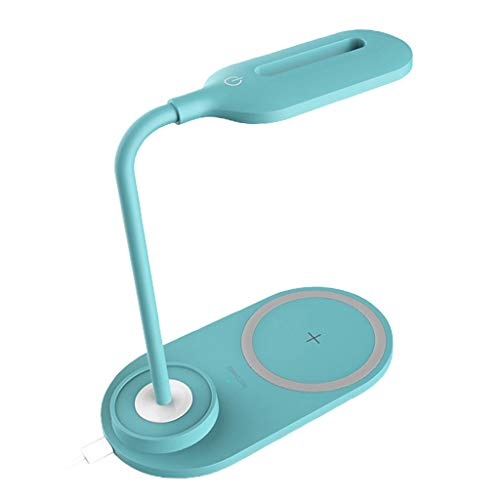 MERIGLARE Lámpara de Escritorio LED Home Light QI Wireless Charger Pad - Azul, Individual